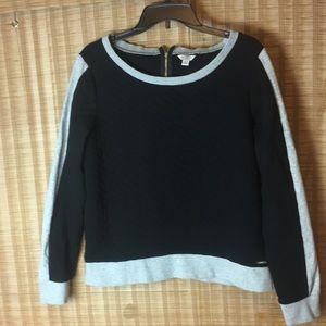 Guess Black Gray Pullover Shirt